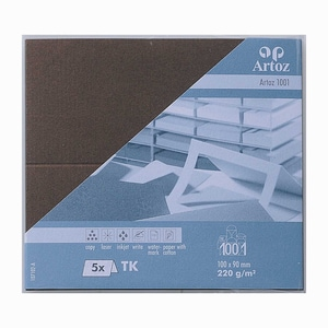 Artoz Tischkarte Serie 1001 220g/m² 5 Stück braun