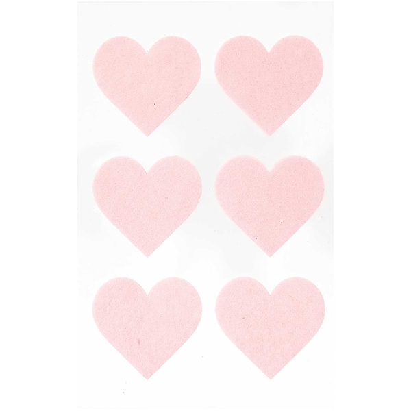 Paper Poetry Filzsticker Herzen groß 1 Blatt rosa