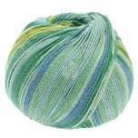Lana Grossa Meilenweit 100 Cotton Bamboo Butterfly 100g 420m grün mix