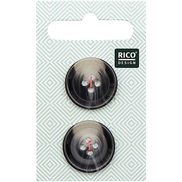 Rico Design Knopf grau 2,2cm strukturiert