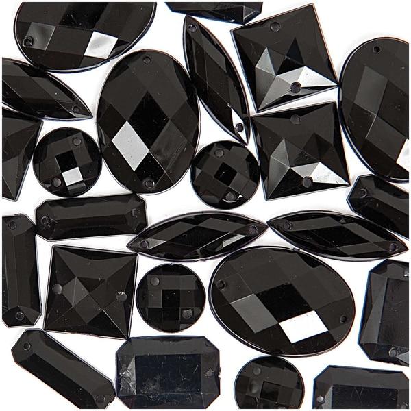Jewellery Made by Me Aufnähsteine Mix schwarz 25 Stück