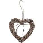 Herz mit Juteschleife grau 20x20cm