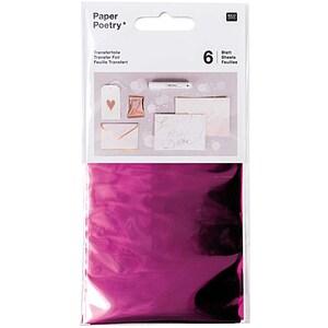 Rico Design Transferfolie 9x15cm 6 Blatt pink