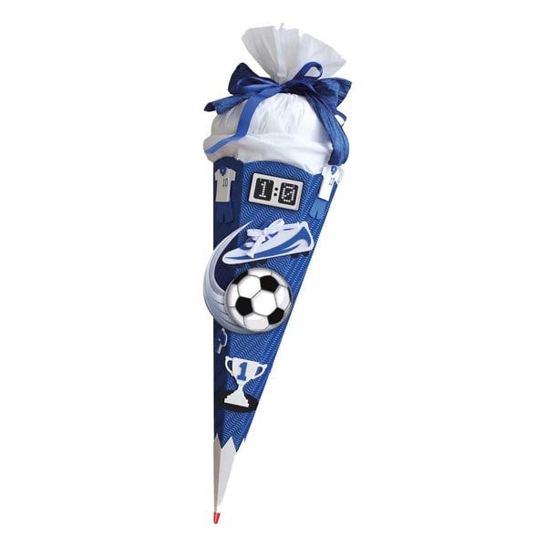 ROTH Schultüten Bastelset Moosgummi Soccer blau 68cm