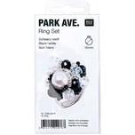 Rico Design Bastelpackung Ring schwarz-weiß 19teilig 18 mm