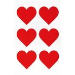 Paper Poetry Filzsticker Herzen groß 1 Blatt rot