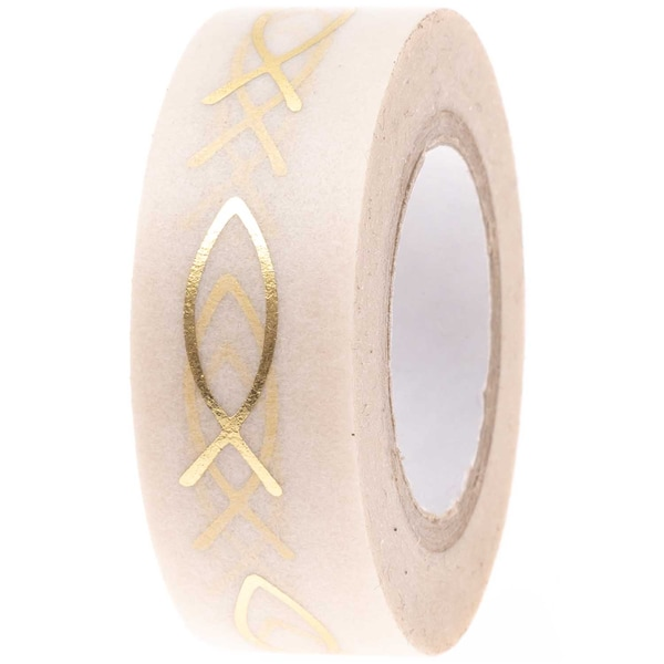 Paper Poetry Tape Fische gold 1,5cm 10m