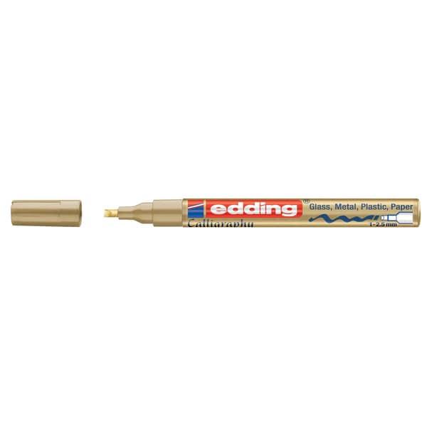 edding 753 calligraphy paintmarker gold 1-2,5mm