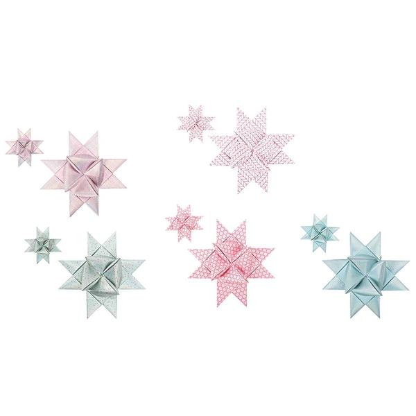 Paper Poetry Fröbelstreifen gezeichnete Spitzen mint-rose 40 Stück