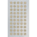 Paper Poetry Sticker Kreise Glitter gold 4 Blatt 10mm