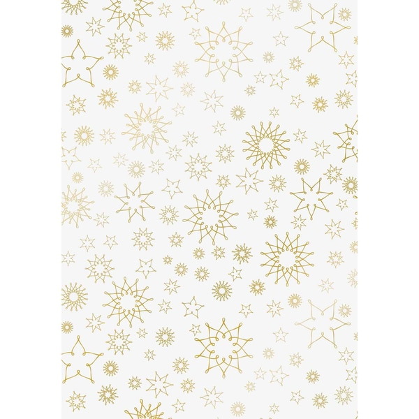 HEYDA Transparentpapier Stardust gold 50x70cm 115g/m²