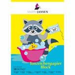 MARPA JANSEN Tonzeichenpapier Block mehrfarbig A3 10 Blatt