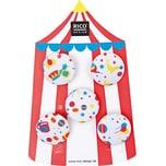 Rico Design Knopf Zirkus weiß 2,5cm 5 Stück