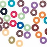 Jewellery Made by Me Gummischeiben Mix bunt 6x1mm 60 Stück