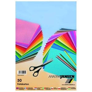 MARPA JANSEN Fotokarton mehrfarbig A4 50 Blatt
