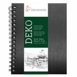 Hahnemühle Spiral-Skizzenbuch Deko schwarz 62 Blatt A4