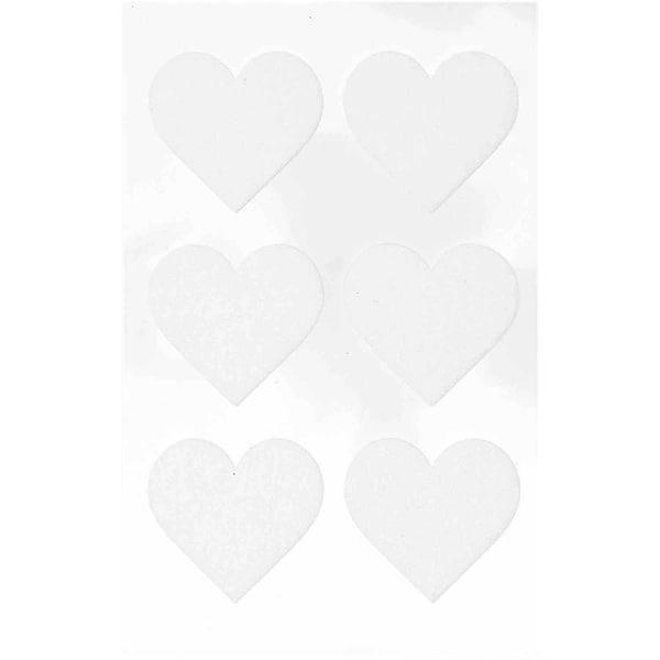 Paper Poetry Filzsticker Herzen groß 1 Blatt weiß