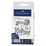 Faber Castell Tuschestift Pitt Artist Pen Handlettering Starter 9 Stück