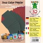 Nice Papers Bascettapapier duo 10x10cm 30 Blatt grün-rot
