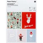 Paper Poetry Postkartenblock Jolly Christmas Classic 12,5x17,6cm