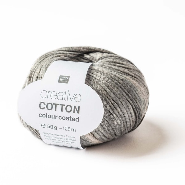 Rico Design Creative Cotton Colour Coated 50g 125m grau Mix