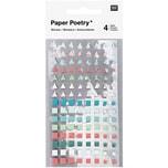 Paper Poetry Sticker Dreiecke und Quadrate 480 Stück