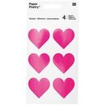 Paper Poetry Sticker Herzen neonpink 24 Stück