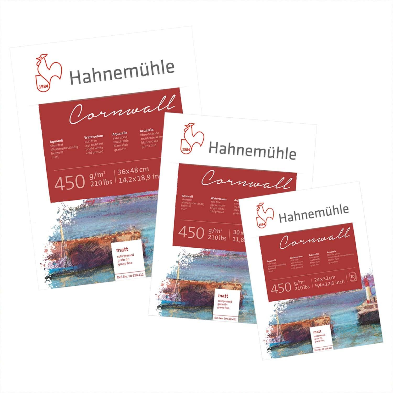 Hahnemühle Aquarellblock Cornwall matt 450g/m² 10 Blatt 30x40cm