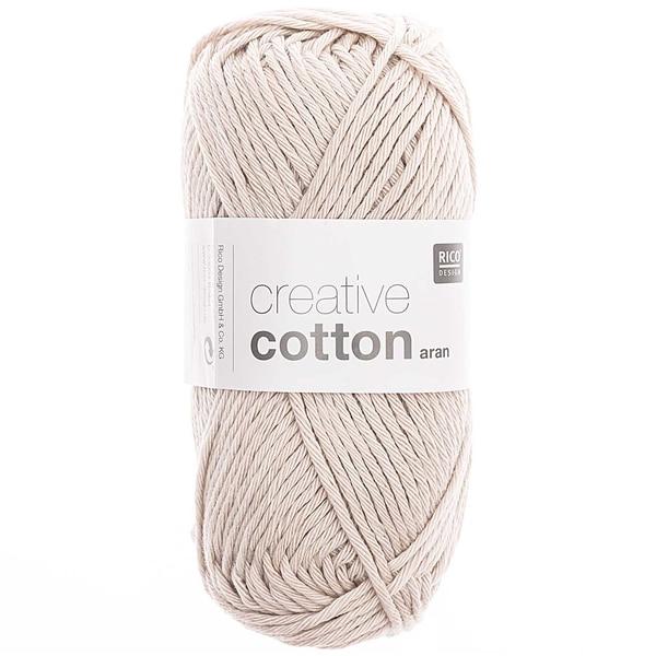 Rico Design Creative Cotton aran 50g 85m silbergrau