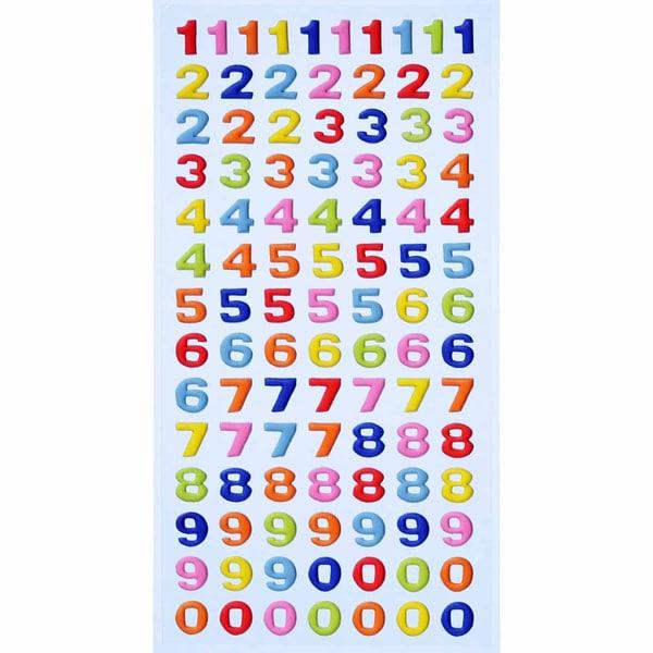 HobbyFun SoftySticker Zahlen mehrfarbig