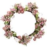 Kranz mit Perlen rosa 14cm
