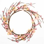 Beeren/Blütenkranz rosa 26cm