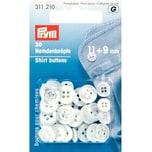 Prym Hemdenknöpfe perlmutt 11mm und 9mm 30 Stück