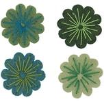 Rico Design Filzblüten 4 Stück grünmix