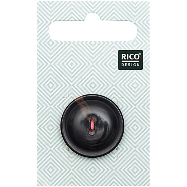Rico Design Knopf schwarz 2,5cm