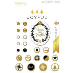 MyMindsEye Joyful - Decorative Brads