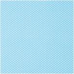 Rico Design Stoff hellblau-weiß gepunktet 21x30cm selbstklebend