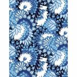 décopatch Papier Fächer blau 3 Bogen