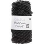 Rico Design Creative Cotton Cord Makramee-Garn schwarz 130g 25m