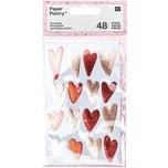 Paper Poetry Sticker It must be love Herzen rosa-rot 4 Blatt