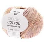 Rico Design Creative Cotton Colour Coated 50g 125m vanille-rosa