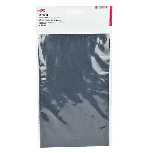 efco Nass-Schleifpapier 4er Set