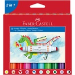 Faber Castell Filzstifte mit Stempel 10er Set