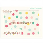 MyMindsEye Scrapbooking Card Set Hooray 12 Stück