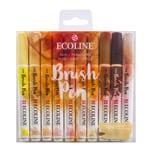 ECOLINE Brush Pen Set 10 Stück haut