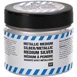 Rico Design Metallic Medium silber 187g