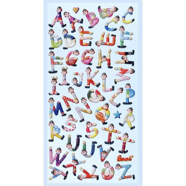 HobbyFun SoftySticker Clown-Buchstaben