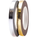 Paper Poetry Tapes Metallic 5mm 10m 2 Stück silber-gold