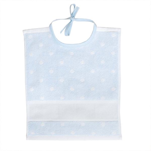 Rico Design Lätzchen mit weißen Punkten 30x34cm blau-weiß
