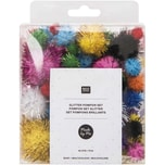 Made by Me Glitter Pompons 63 Stück bunt